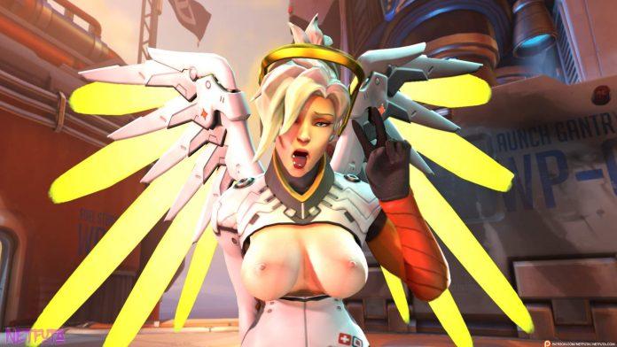 Mercy ahegao cumshot tits overwatch porn
