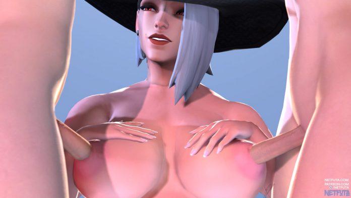 ashe sfm porn nipples breast overwatch