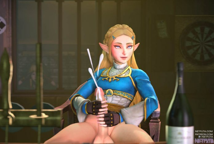 Zelda cums as much as she can
