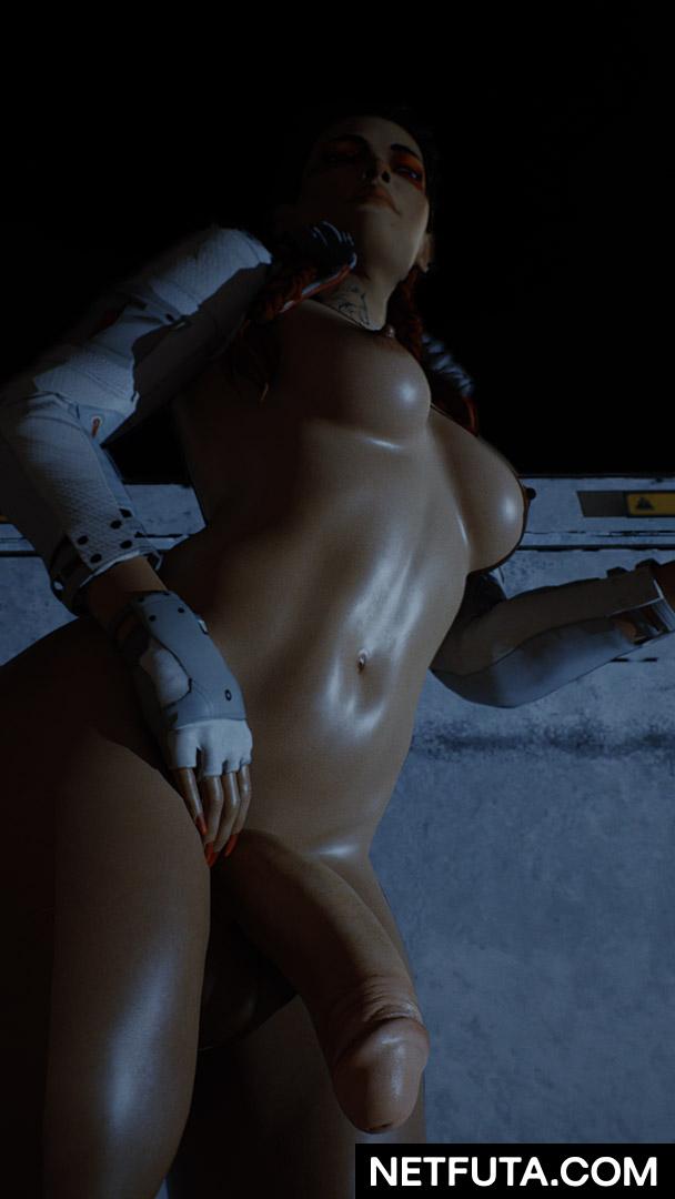 Apex Legends Loba Futanari POV Heavy Sweat Breasts Large Boobs Pinup Render 3D Hentai Blender Futa